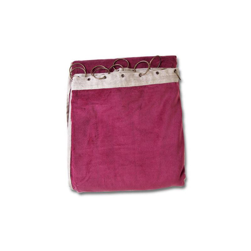 en fil d'Indienne カーテン Velour framboise130x280