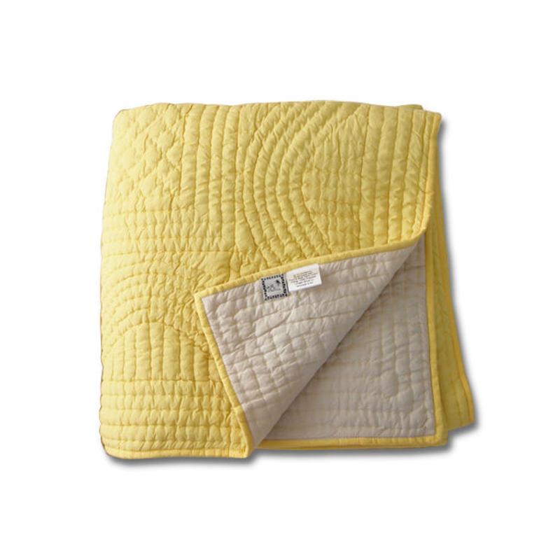en fil d'Indienne オンフィルダンディエンヌ マルチキルトカバー Basic yellow 160x160