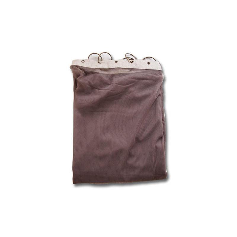 en fil d'Indienne カーテン Tulle curtain brown 120x300