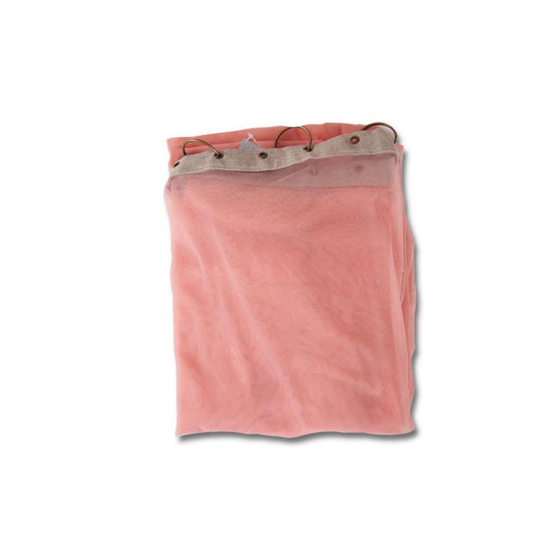 en fil d'Indienne カーテン Tulle curtain rose 120x300