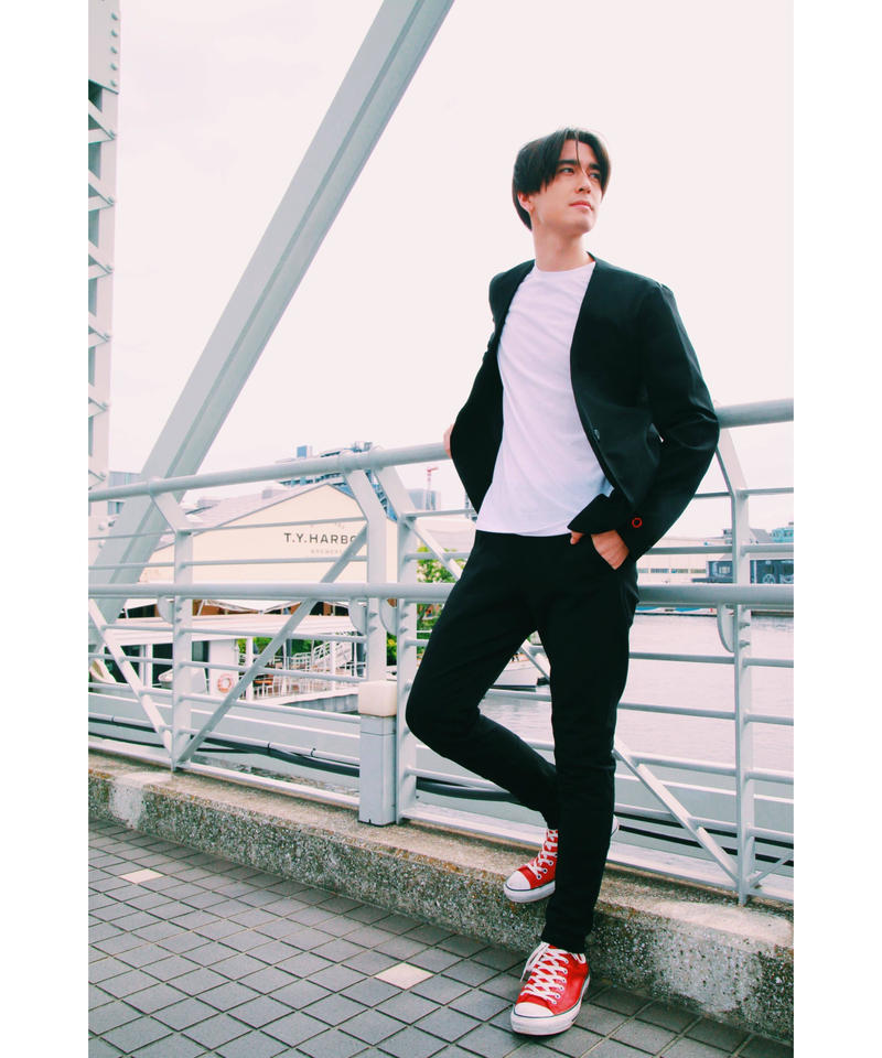 Pants (BLACK×RED)