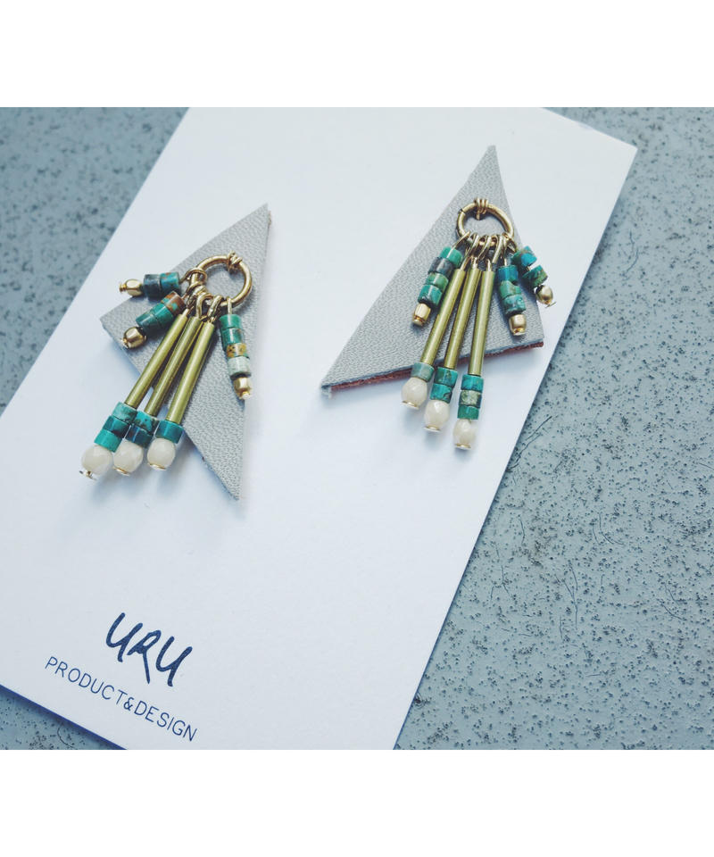 Leather Beads Charm Earrings