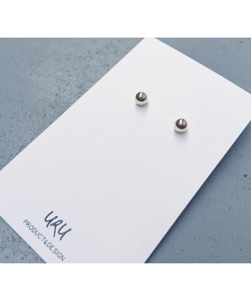 Gold Sphere Earrings