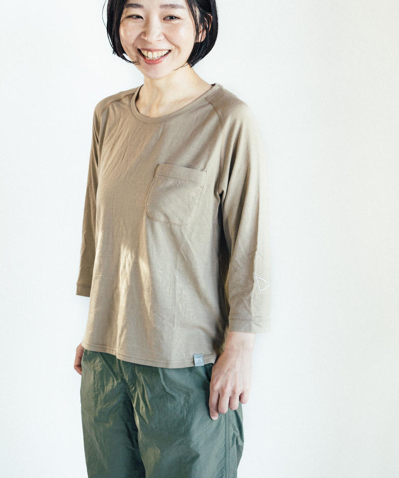 Hiker's T-shirt  (8sleeve) size:XXS(レディスS)