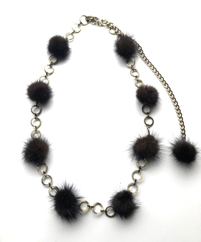 【Used Item】PomPom Fur Belt / ポンポンファーベルト