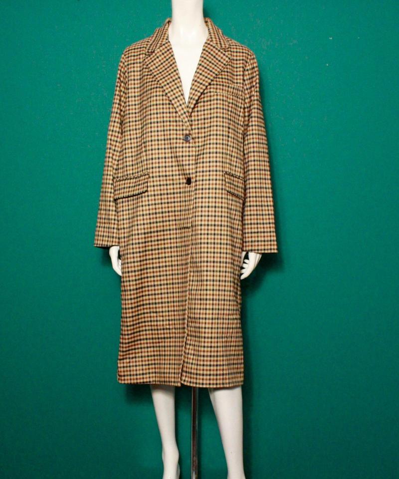 【migration】Over size brown coat / mg-127 / オーバーサイズブラウンコート
