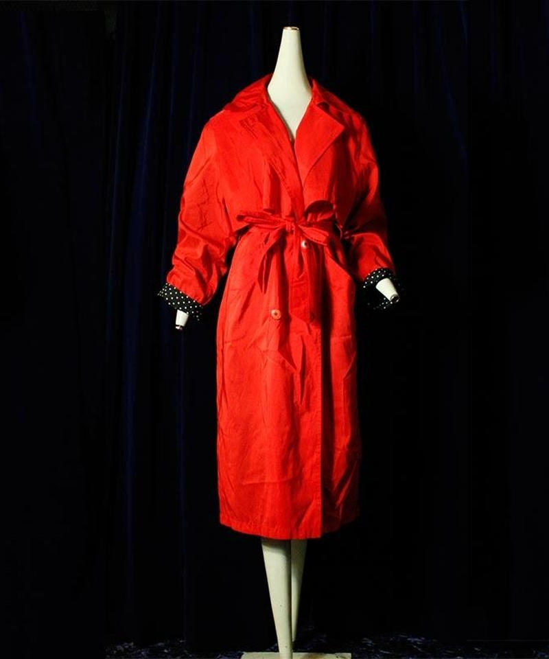 【Vintage 】1980's Red Trench Coat(MADE IN USA)