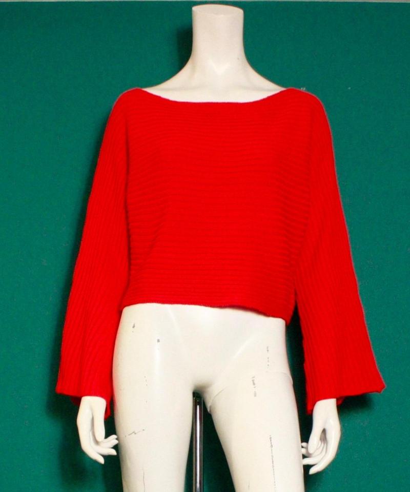 【migration】Flare sleeve rib knit tops / フレアスリーブニット