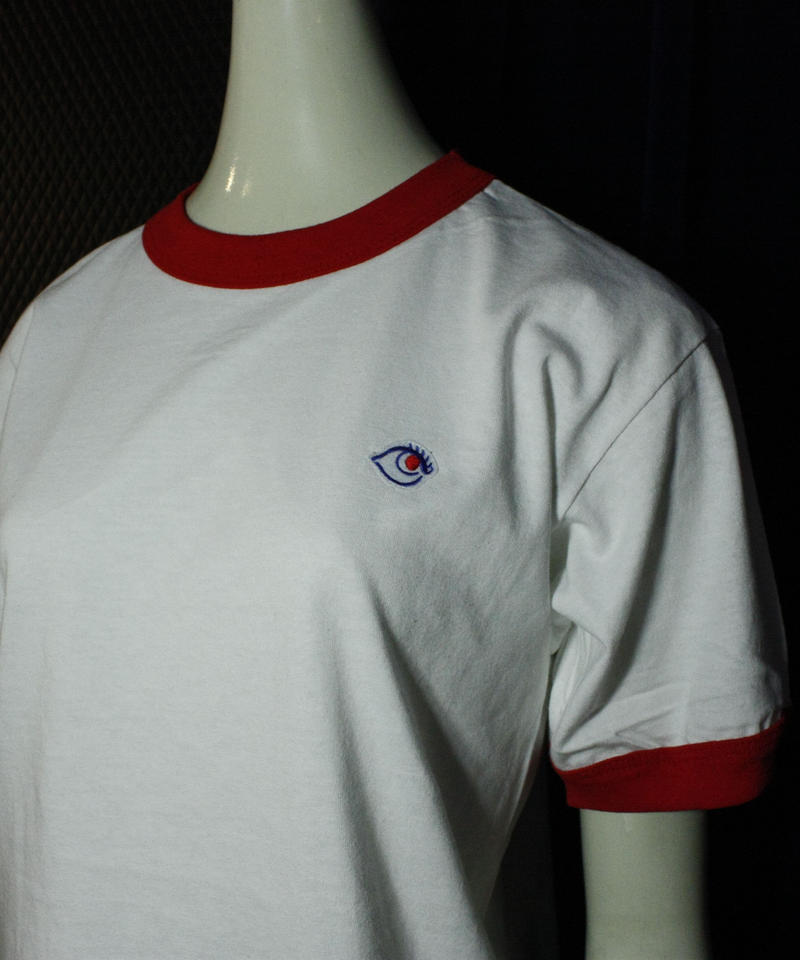【bed】Original Logo Trim T Shirt / red