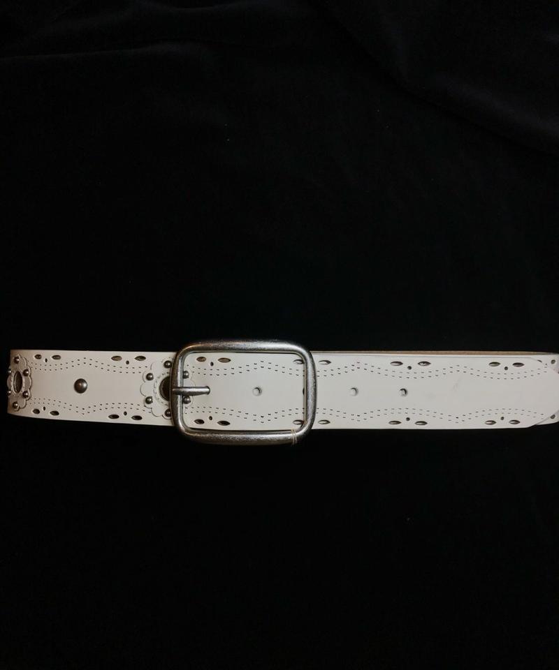 【Used】Flower studs leather belt / フラワースタッズレザーベルト