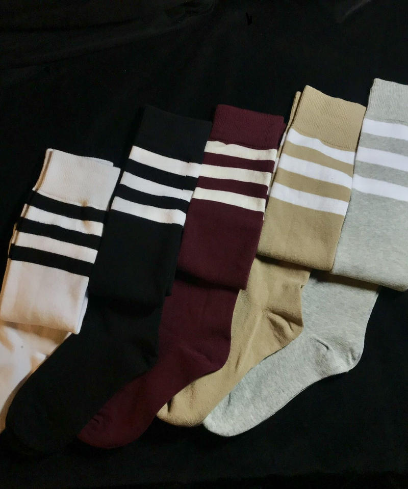 【Selected item】Line knee high socks /ライン入りニーハイソックス mg-106