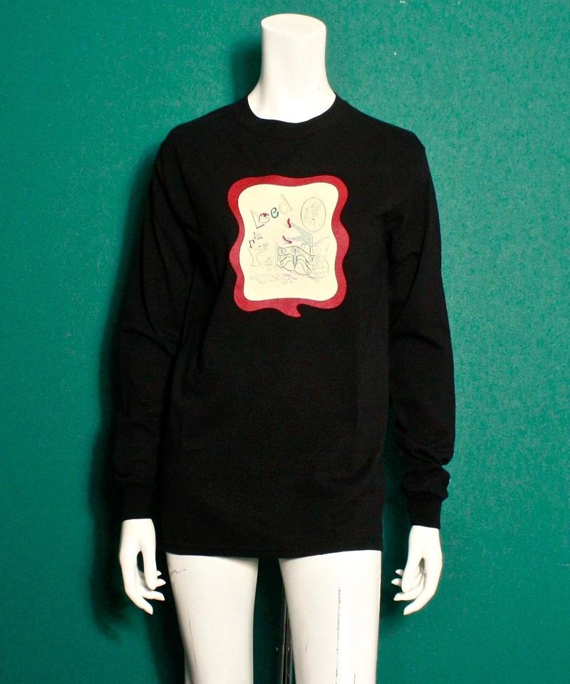 【bed】Original Sticker long sleeve T Shirt / Black