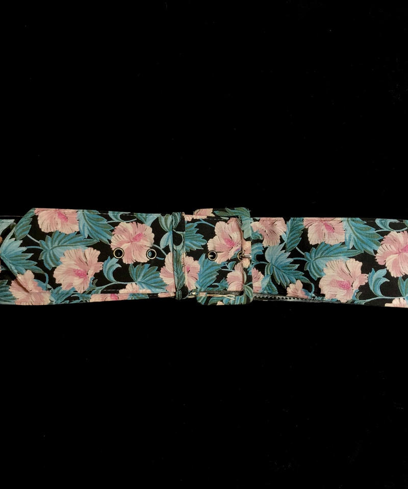 【Used】Tropical flower patten Belt  /  トロピカル花柄ベルト