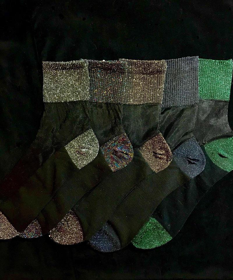 【Selected item】Glitter see-through socks / ラメシースルーソックス mg-105