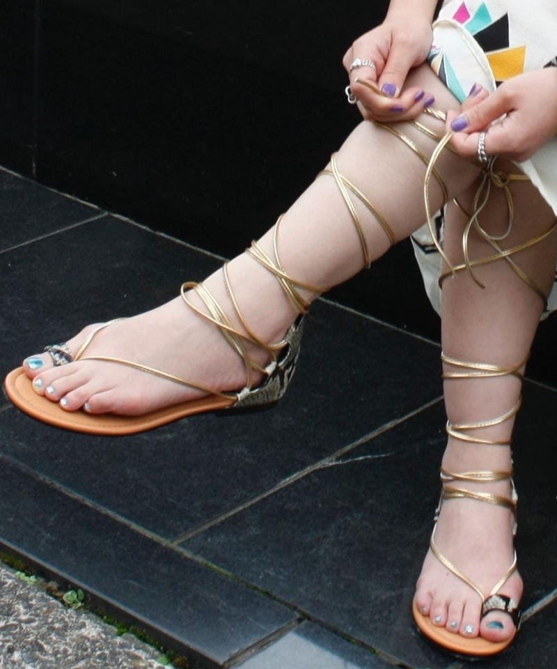 【import 】Lace up python patten sandal / レースアップパイソン柄サンダル / mg-314