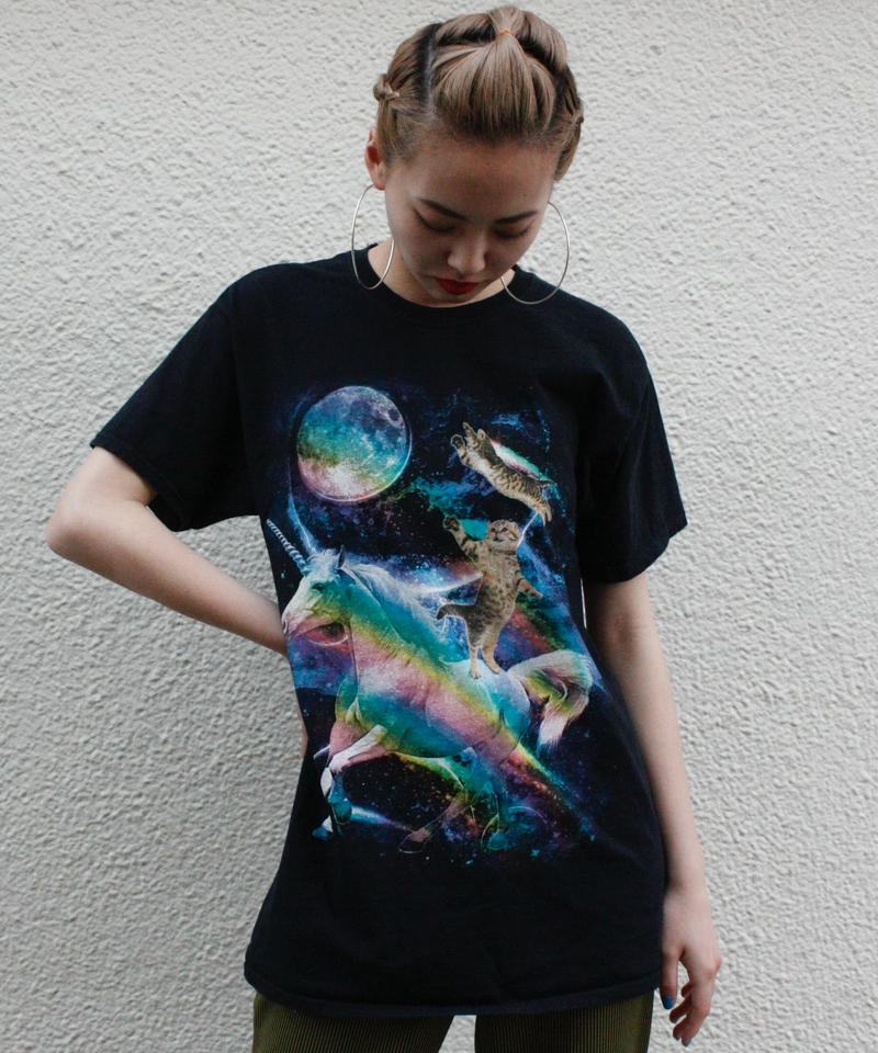 【Used】Space Cat T shirt / 宇宙猫Tシャツ