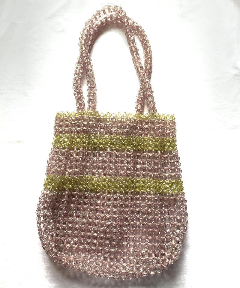 【Used Item】Clear purple beads hands bag / クリアパープルビーズハンドバッグ