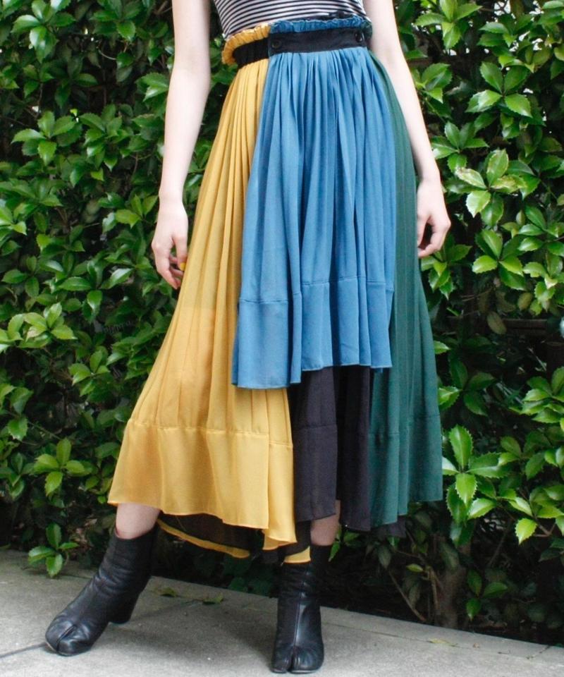 【Selected item】4 Color  asymmetry design flare skirt / 4色アシンメトリーデザインフレアスカート / mg-288