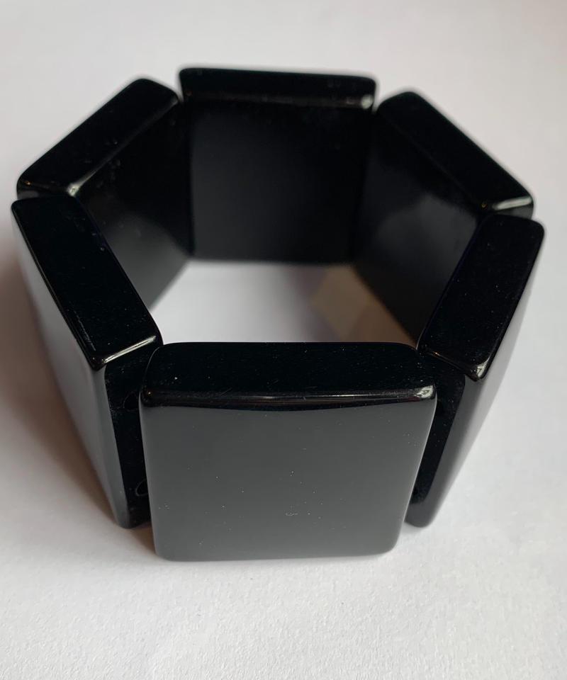 【Used】Black bangle / スクエアバングル