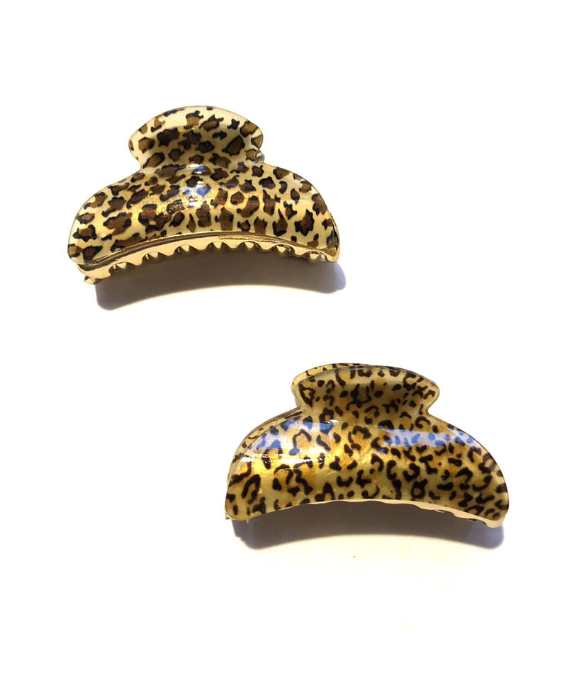 【Selected item】Leopard Hair clip