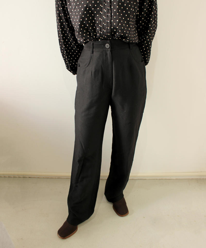 Black high-waist stretch pants
