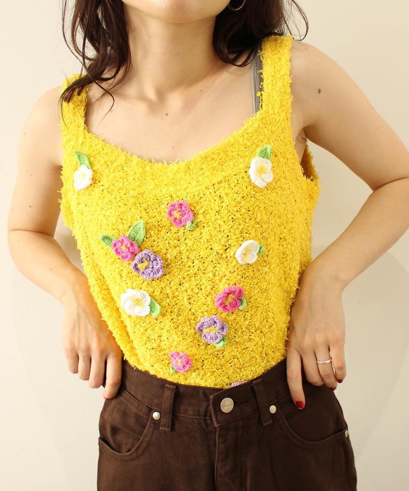flower point linen camisole