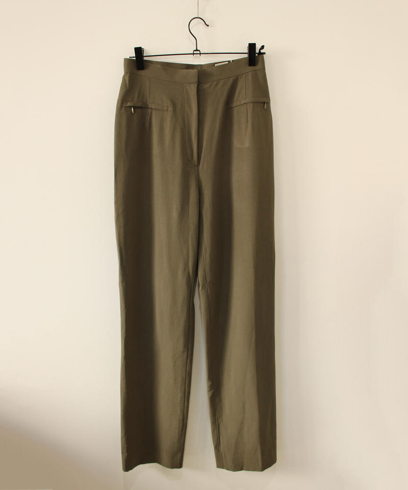 deep green stretch pants