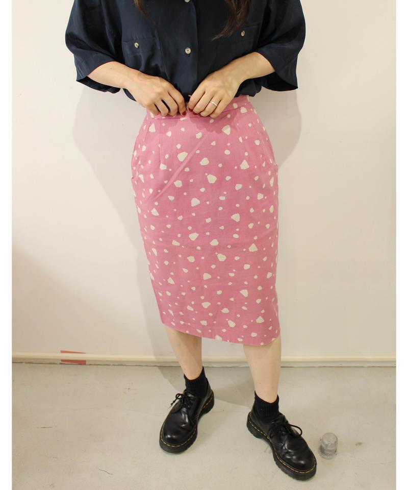linen high-waist  skirt