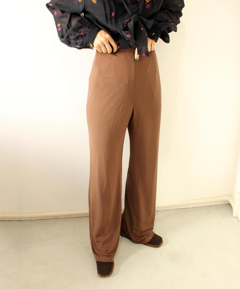 brown stretch straightpants