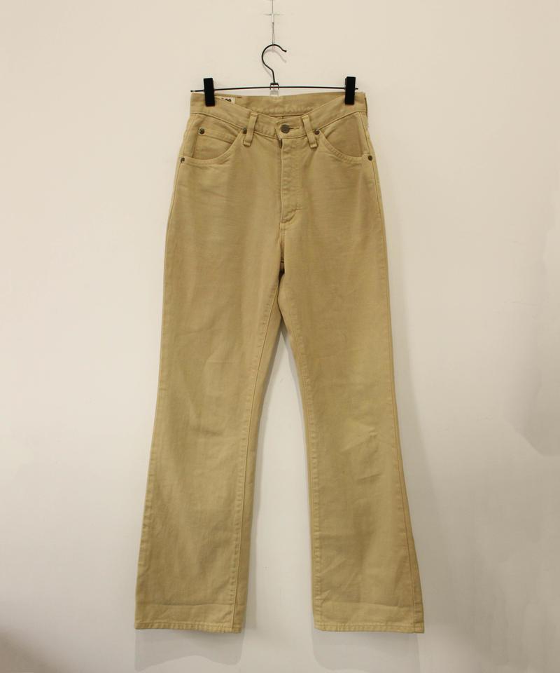 【lee】beige flare cotton pants