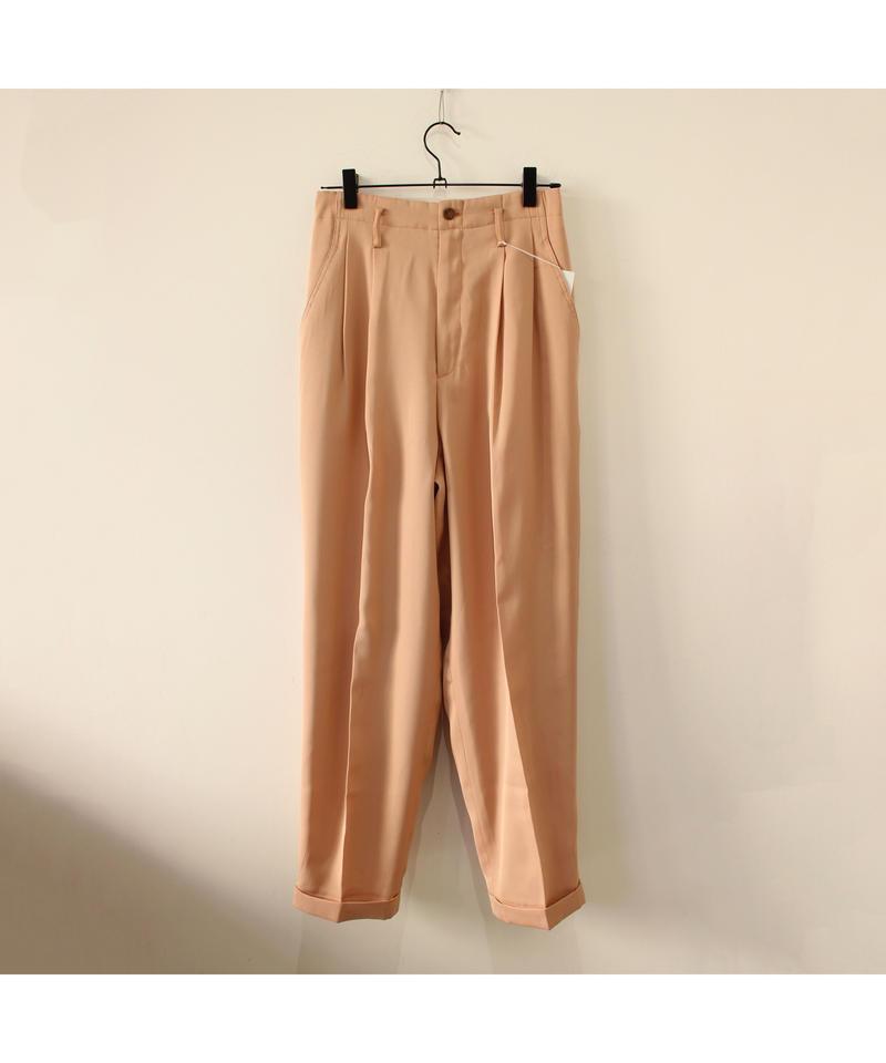 pink beige high-waist slacks