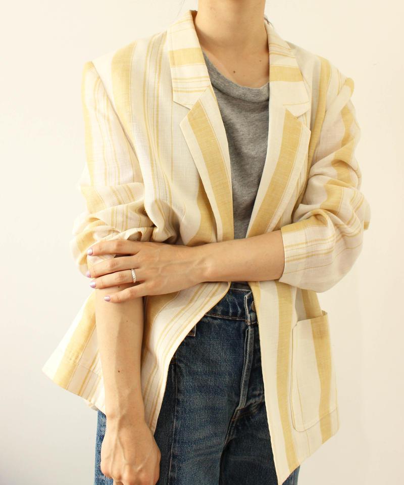 linen100% mulch stripe jacket