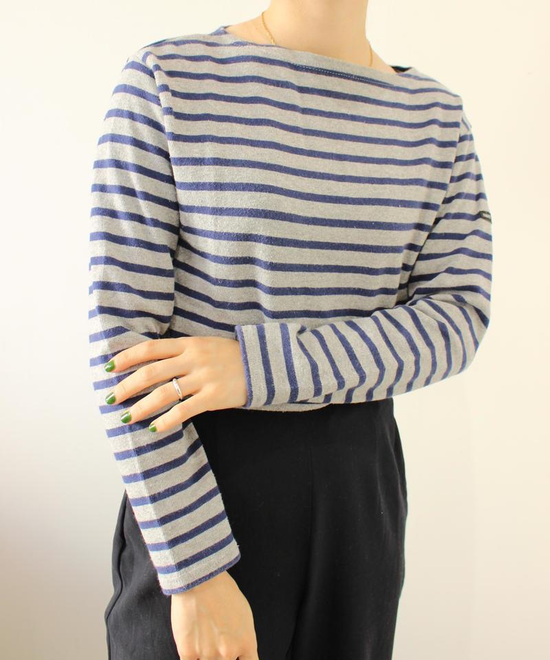 【SI  NT JAMES】Basqueshirt navy × gray