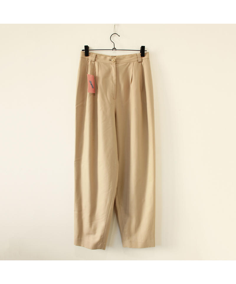 beige high-waist slacks