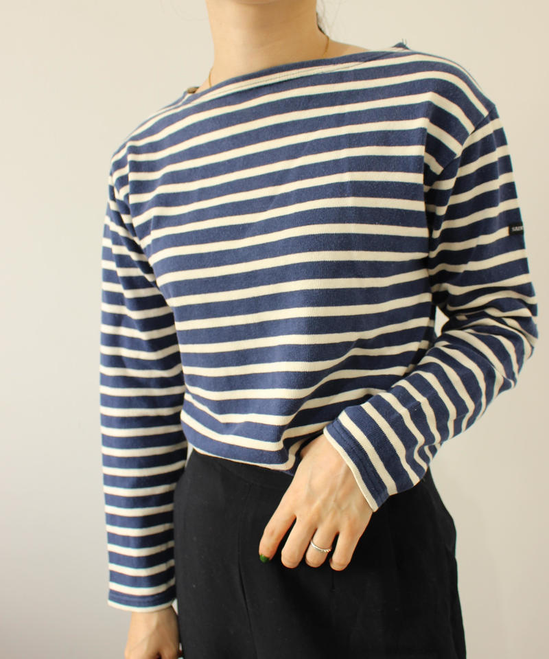 【SAINT JAMES】Basqueshirt navy × white