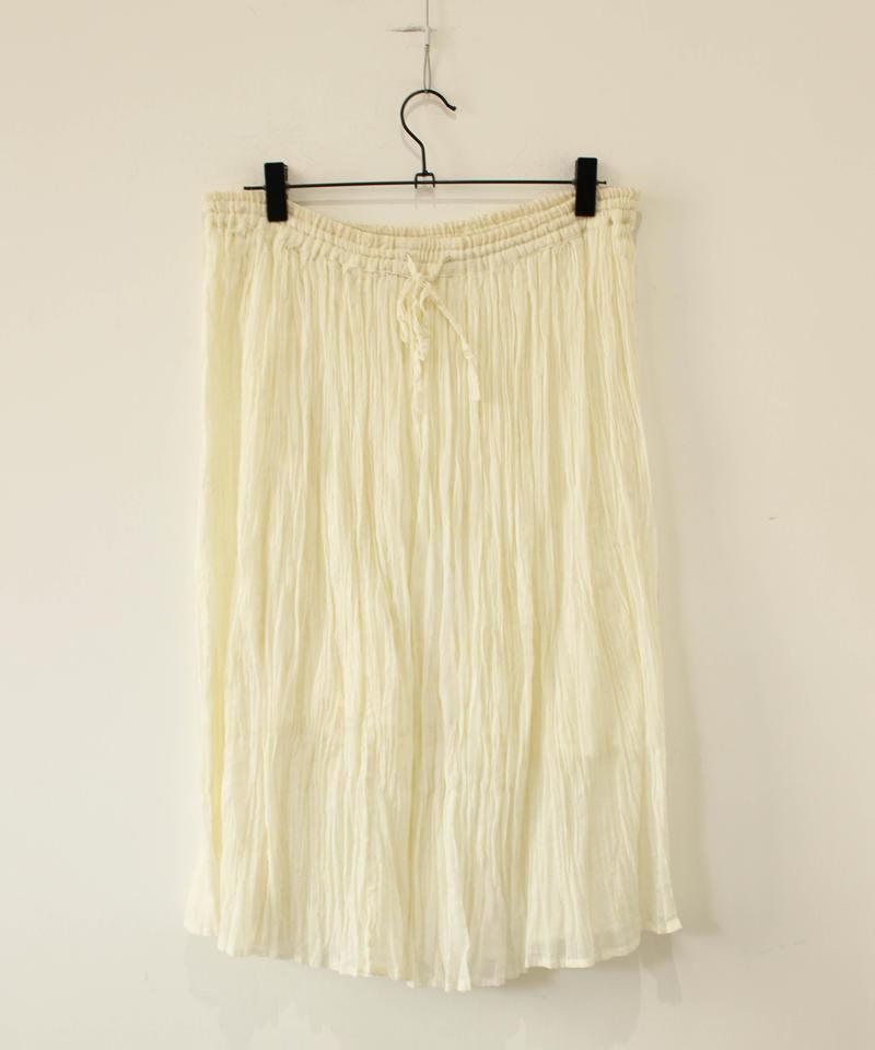 linen100% gather skirt