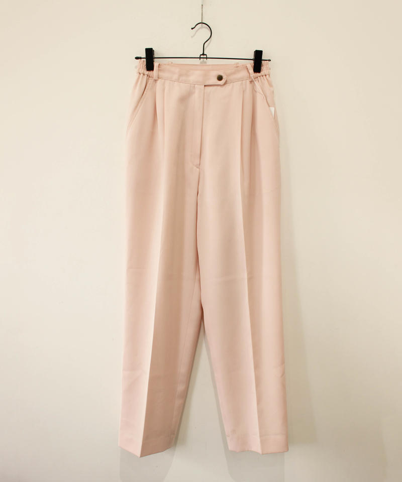 baby pink slacks