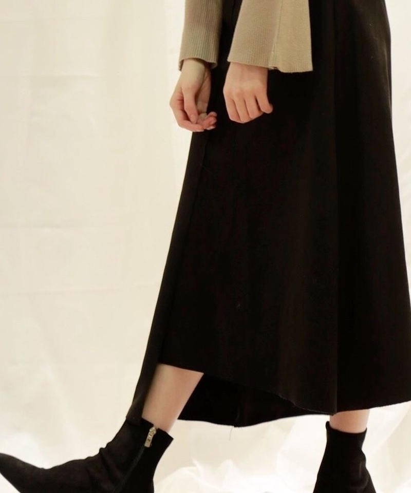 asymmetry suède skirt