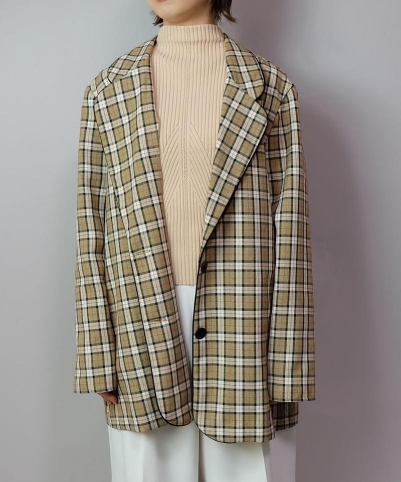 Vintage   Check Taired Jacket