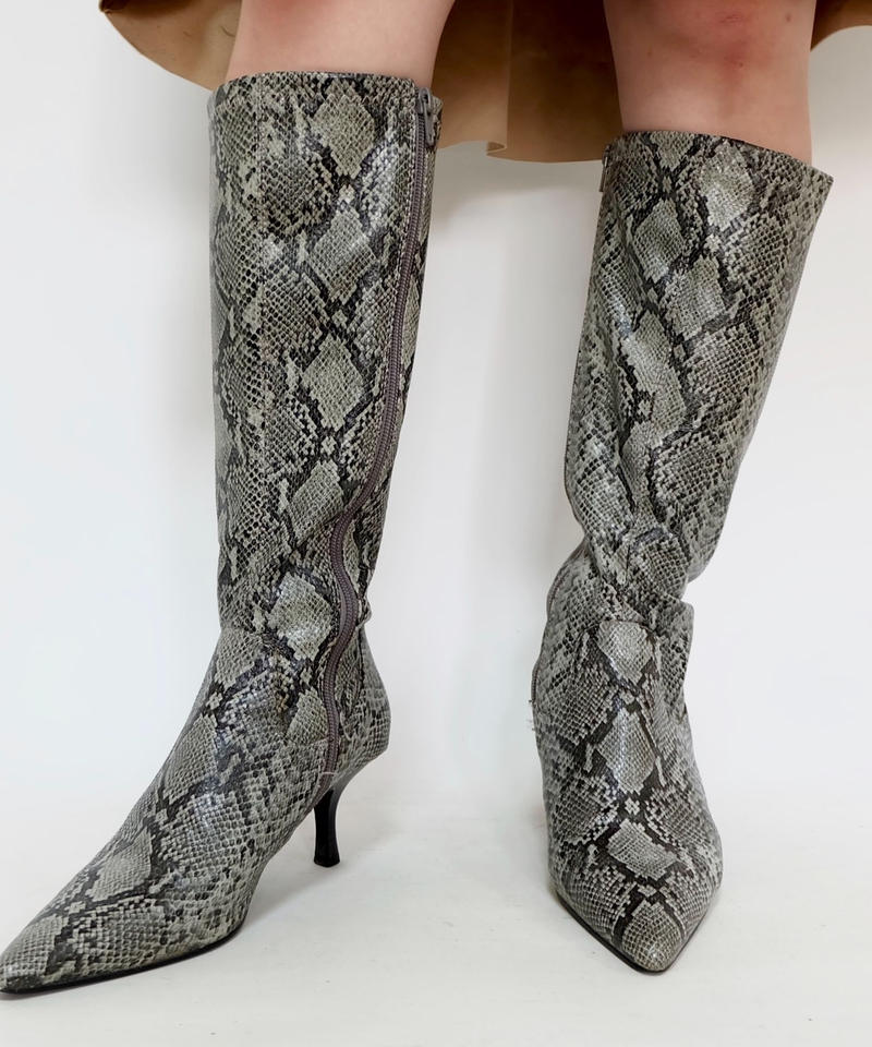 VINTAGE   python LONG BOOTS