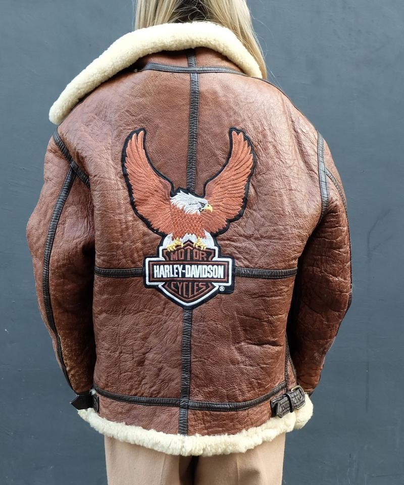 Vintage   Harley-davidson Mouton Jacket
