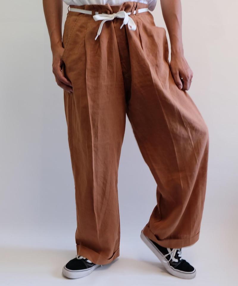 VINTAGE   LINEN BIG SLACKS PANTS