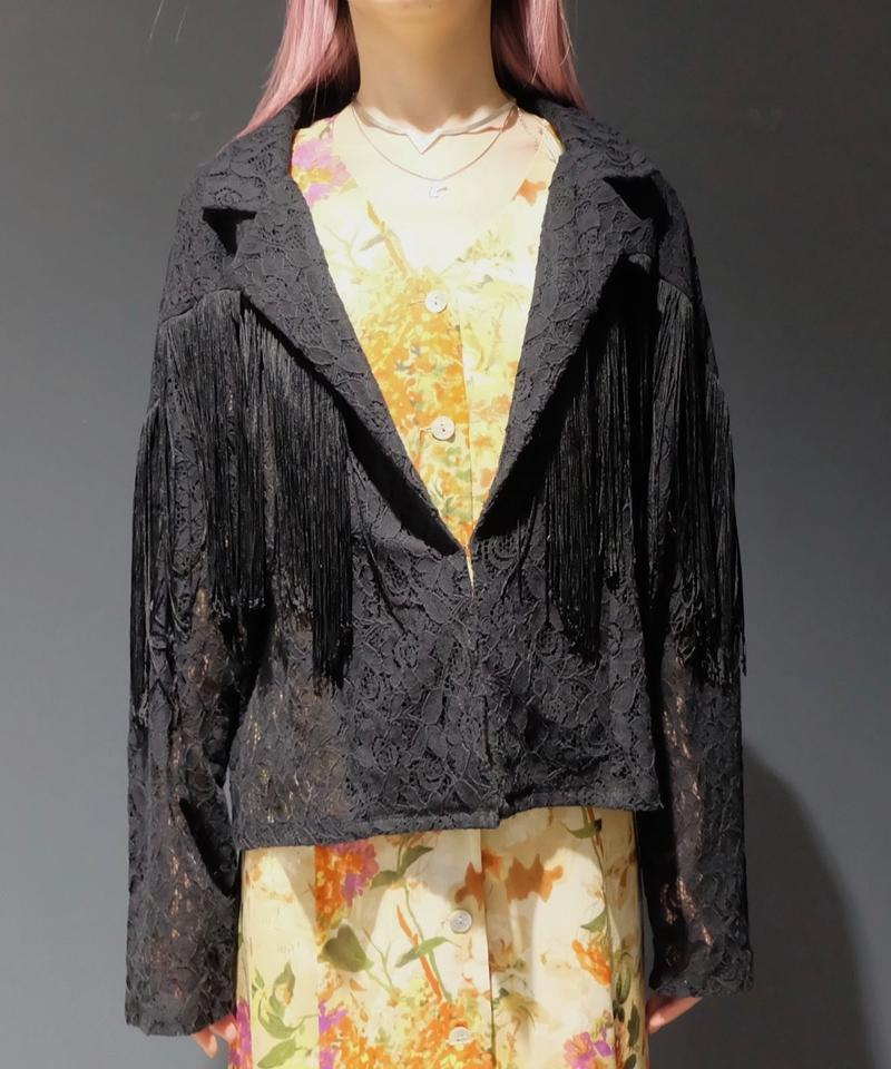 Vintage   Lace Fringe Shirt