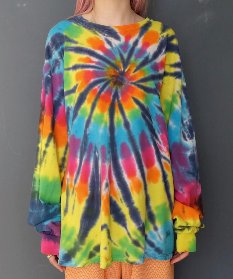 Vintage   Tie-dye Long T-shirt