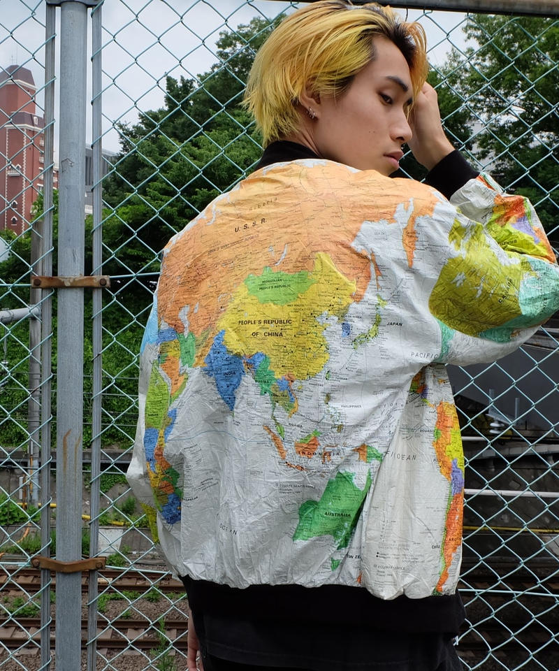 VINTAGE   MAP PEPAR JACKET