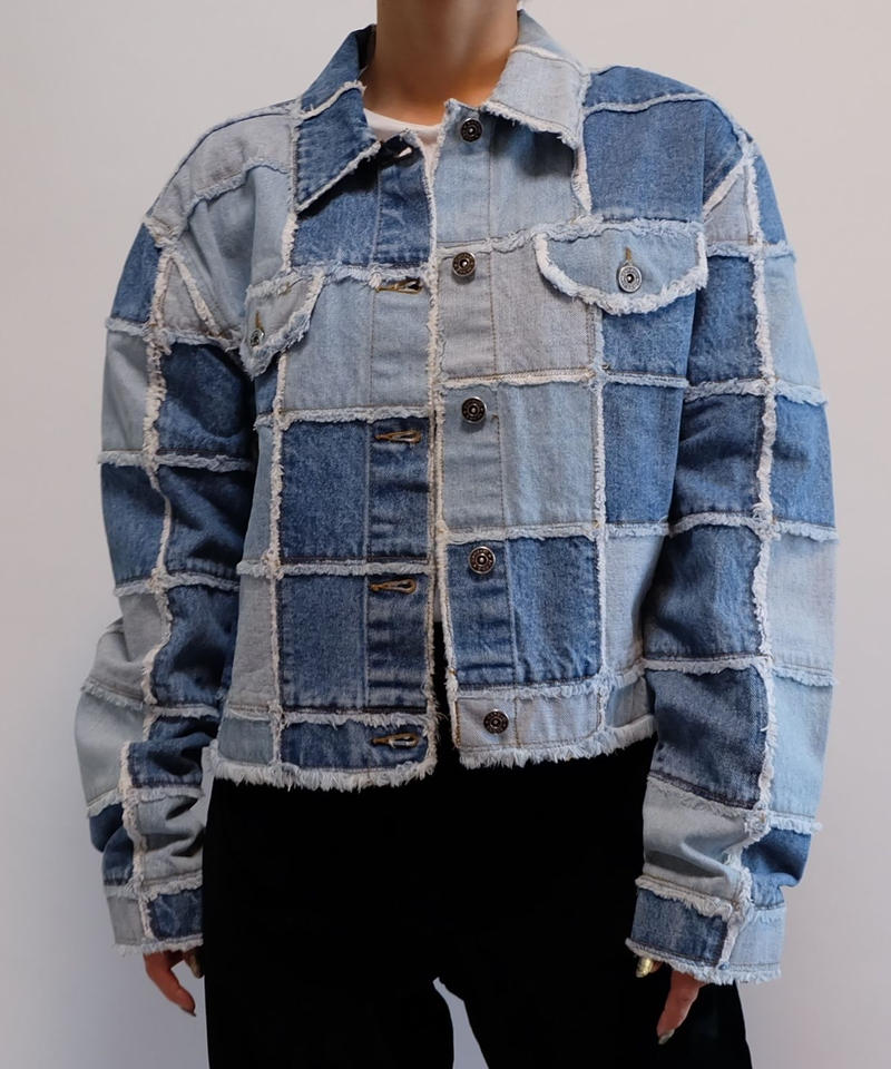 VINTAGE   PATCHWORK DENIM JACKET