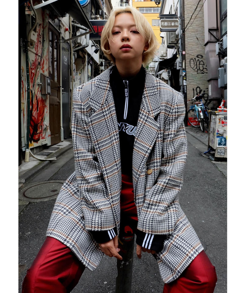 Vintage   Glen Check Taired Jacket