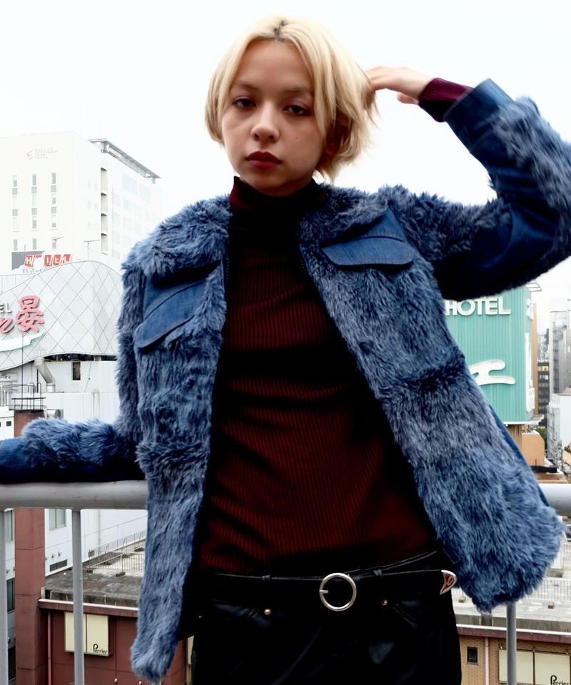 Vintage   Denim Fur Jacket