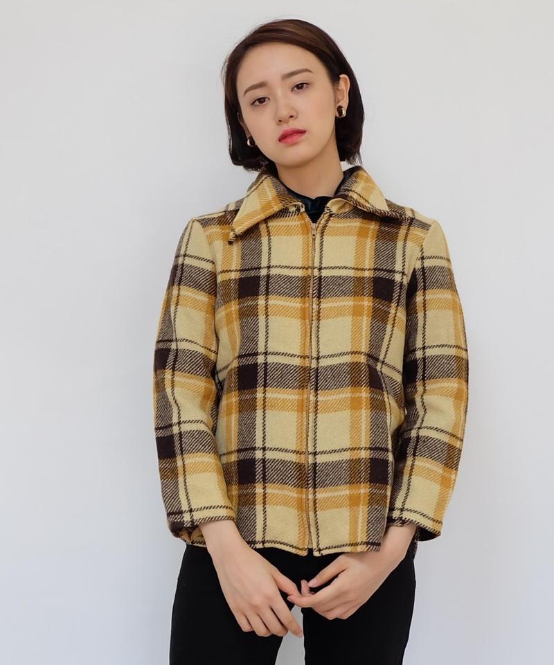 Vintage   Wool Check Jacket