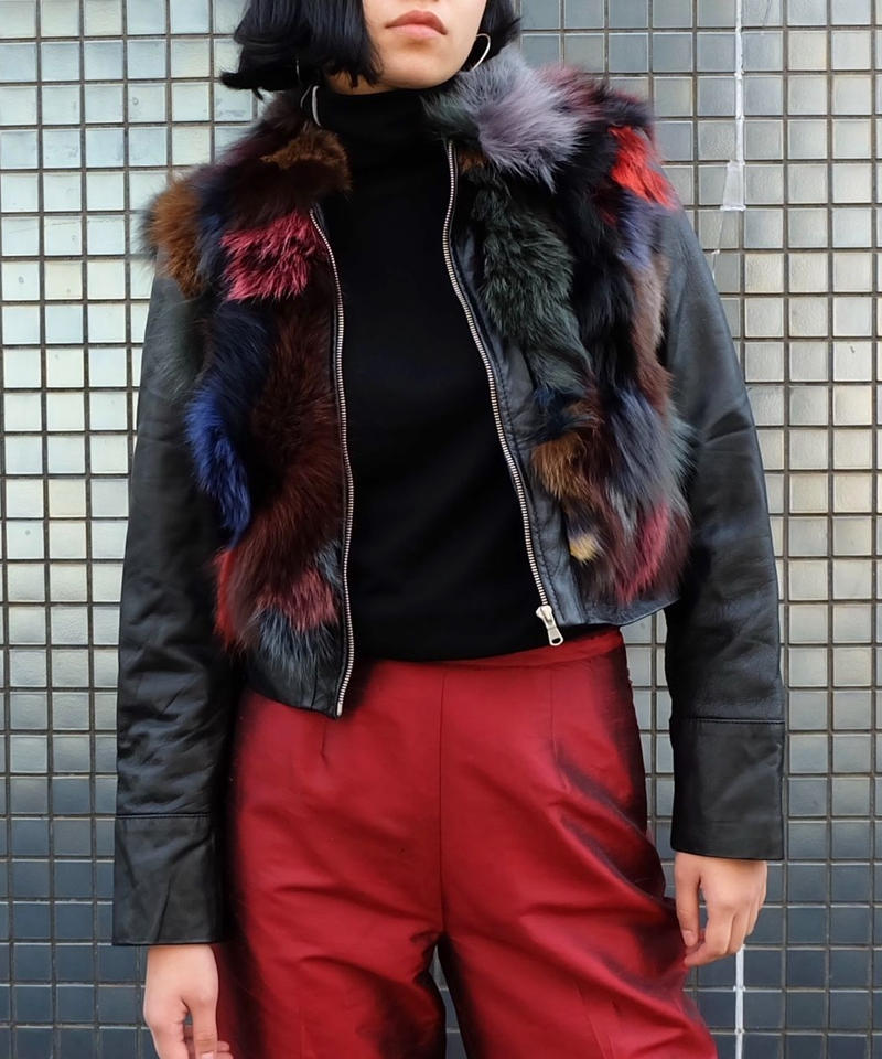 Vintage   Fur Leather Jacket